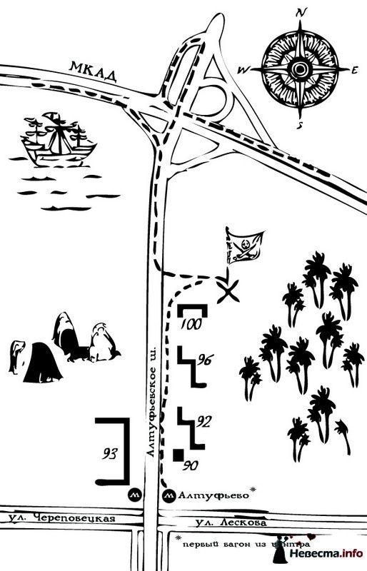карта к ресторану
