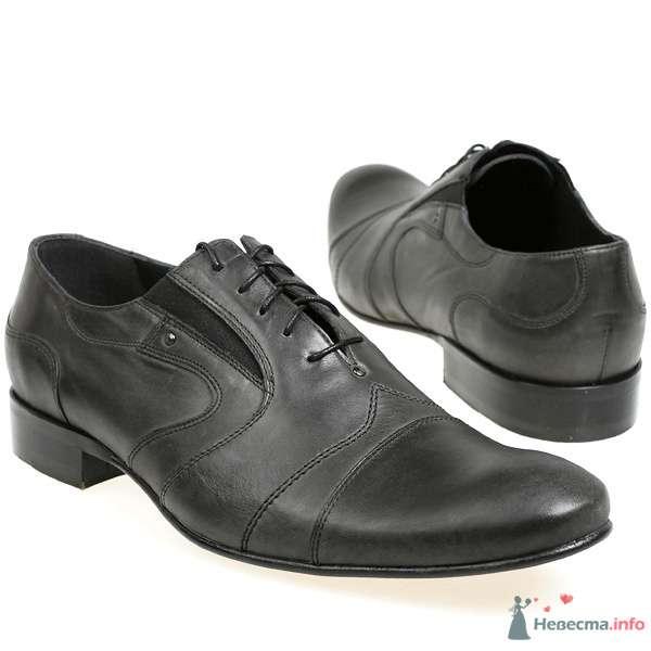 Черные мужские модельные кожаные туфли со шнурками - фото 76077 Kwinto-shoes - cвадебная обувь