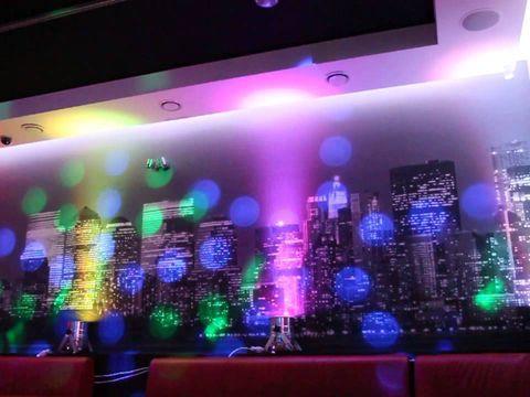 световой декор ресторана