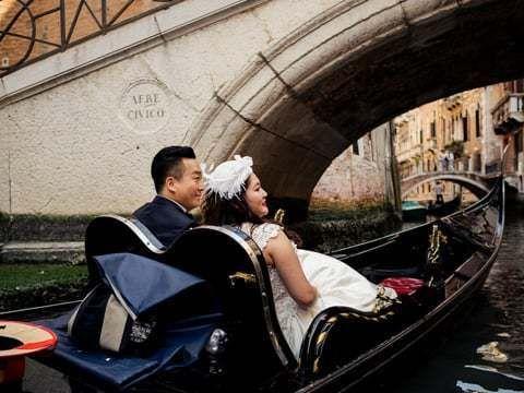 Предсвадебная съемка в Венеции: Raymond & Wendy