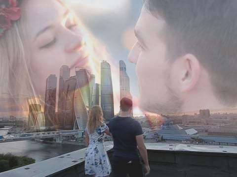 Любовь над городом - прогулка Ярослава и Ольги