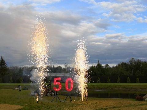 """Шоу юбилей """"50"""" горящие цифры и холодные фонтаны"""